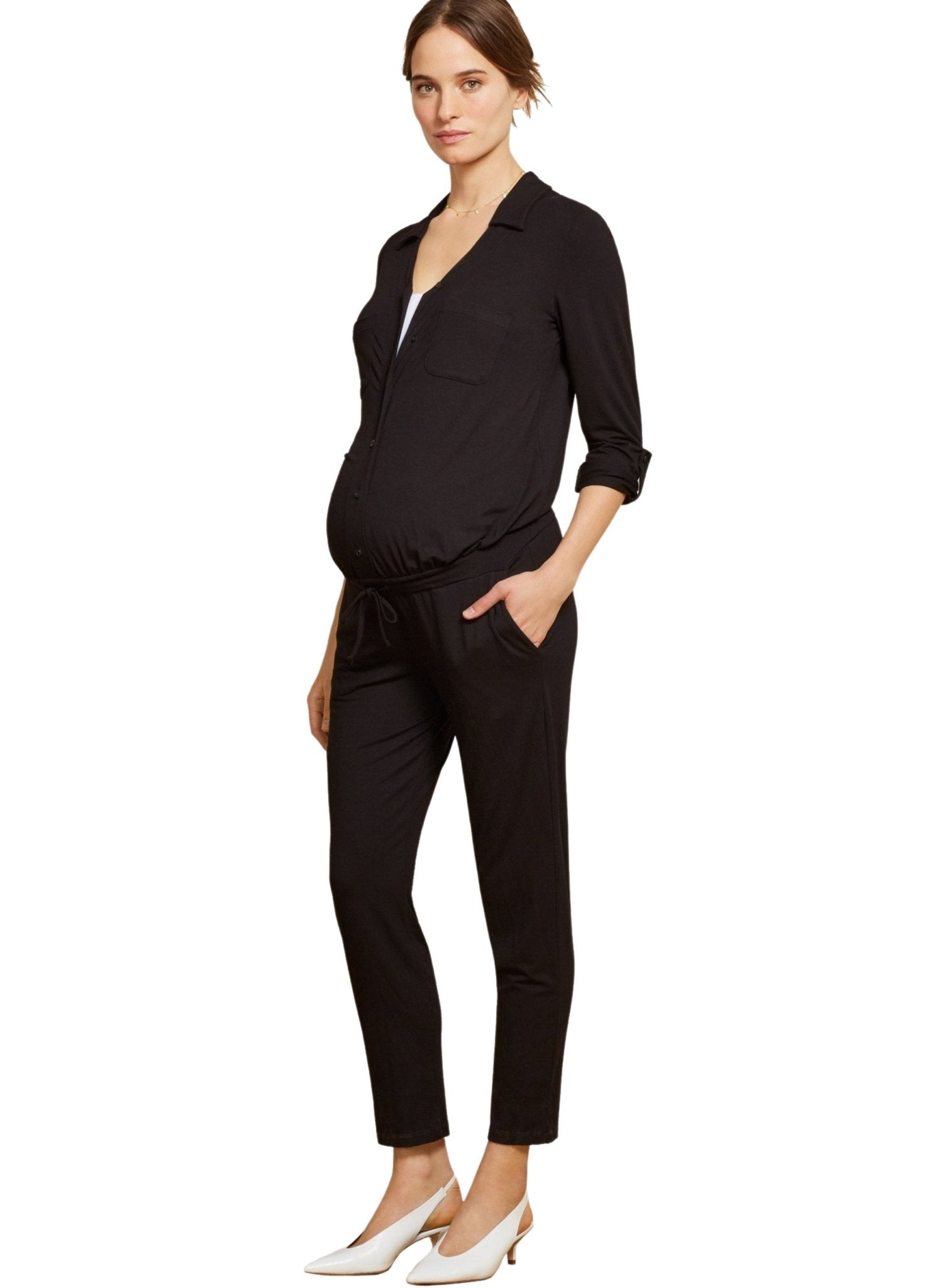 Ashlyn Maternity Jumpsuit - Mums and Bumps