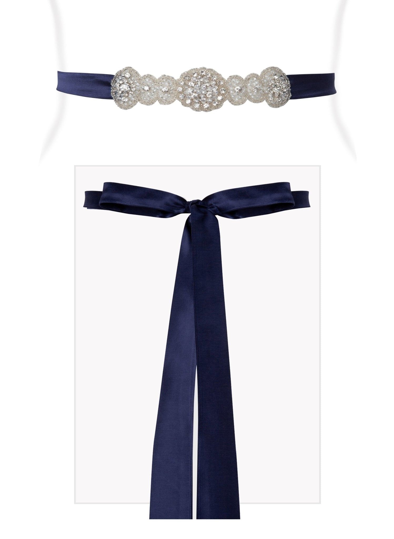 Aurelia Vintage Sash - Eclipse Blue - Mums and Bumps