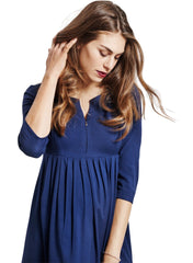 Avery Maternity Dress - Navy - Mums and Bumps