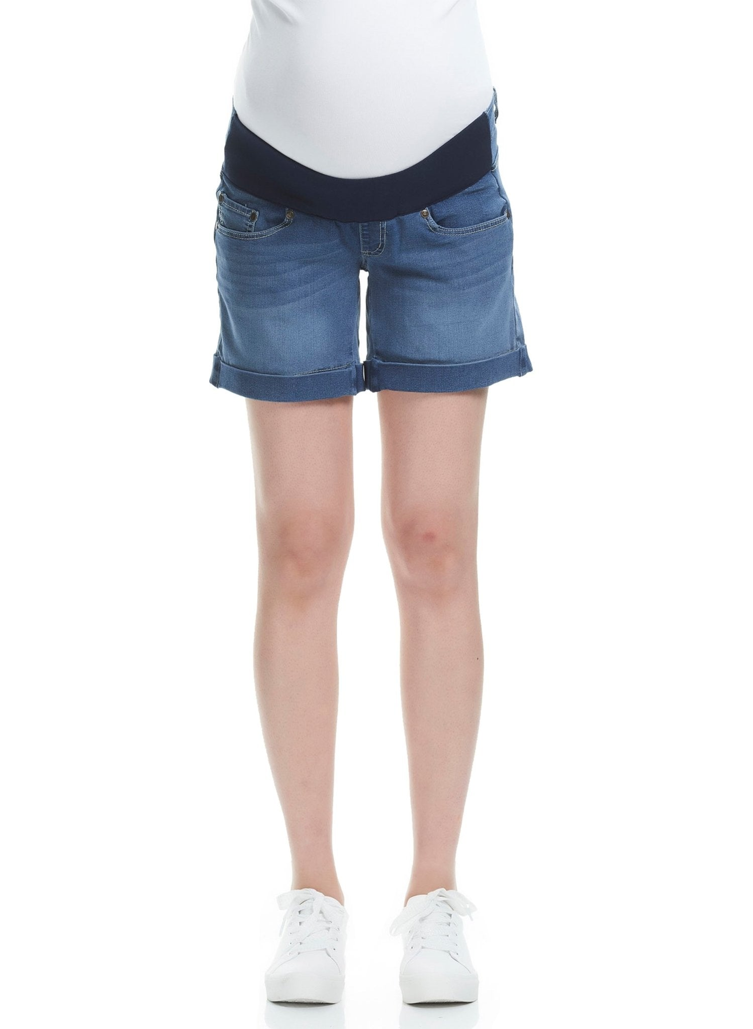 Axel Maternity Denim Short - Light Vintage - Mums and Bumps