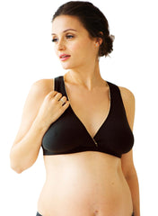 Bamboo Maternity Sleep Bra -Black - Mums and Bumps