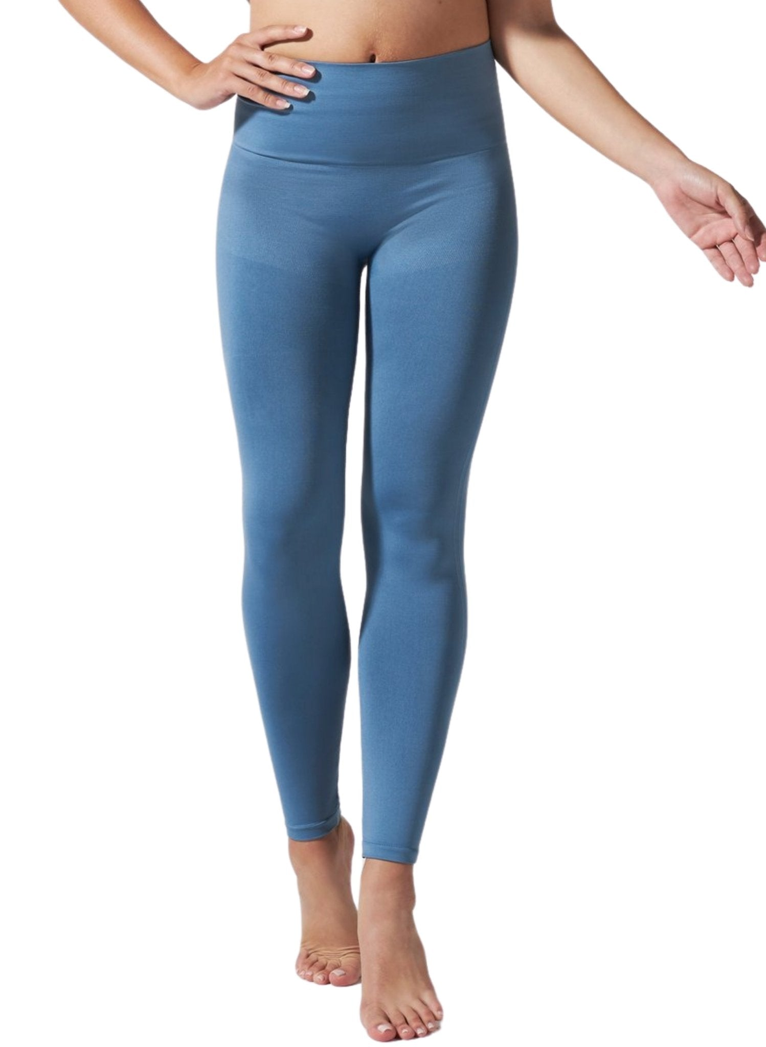 BLANQI Hipster Postpartum Support Leggings - Oil Blue - Mums and Bumps
