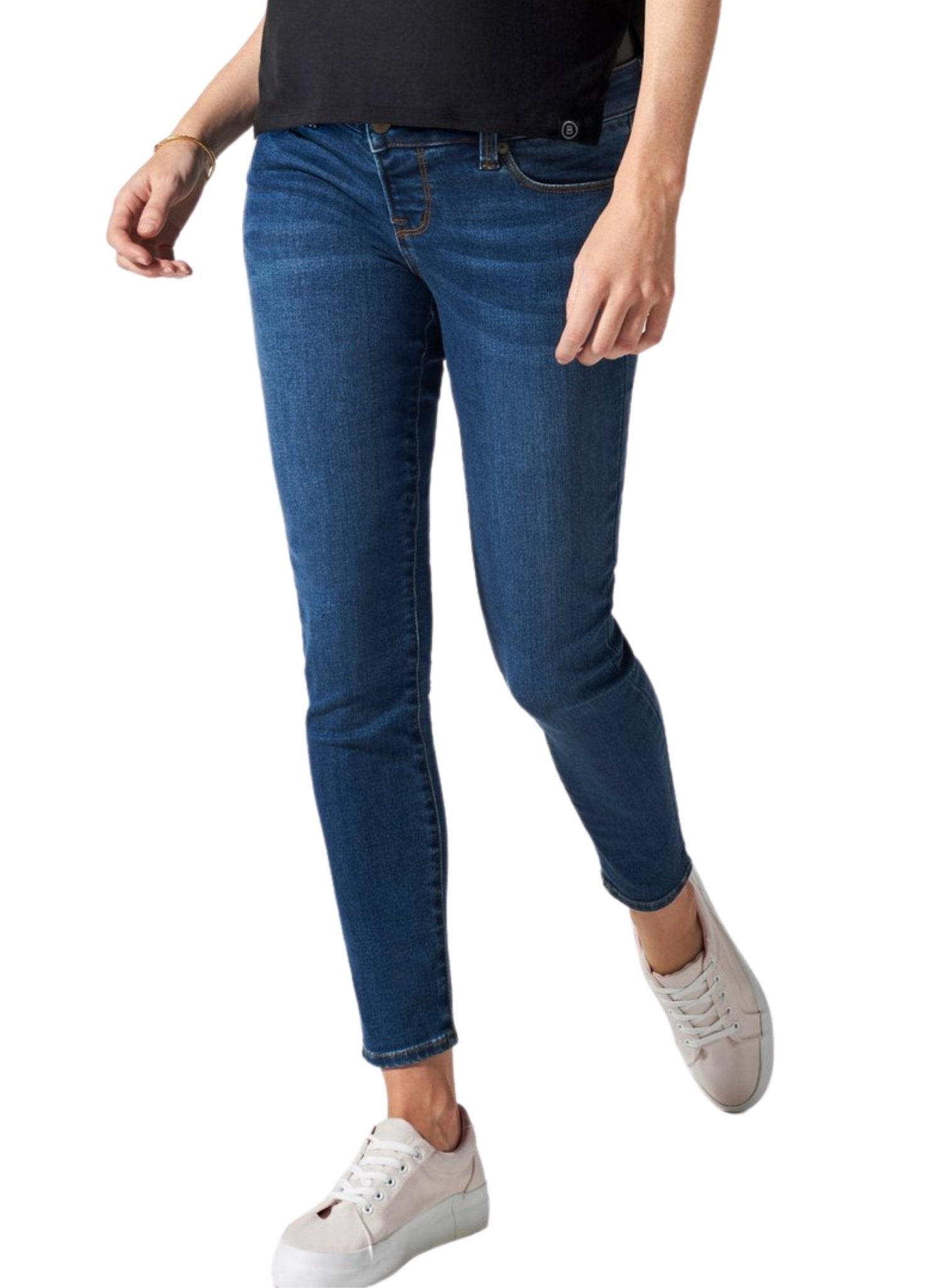 BLANQI Maternity Belly Support Skinny Jeans - Medium Wash - Mums and Bumps