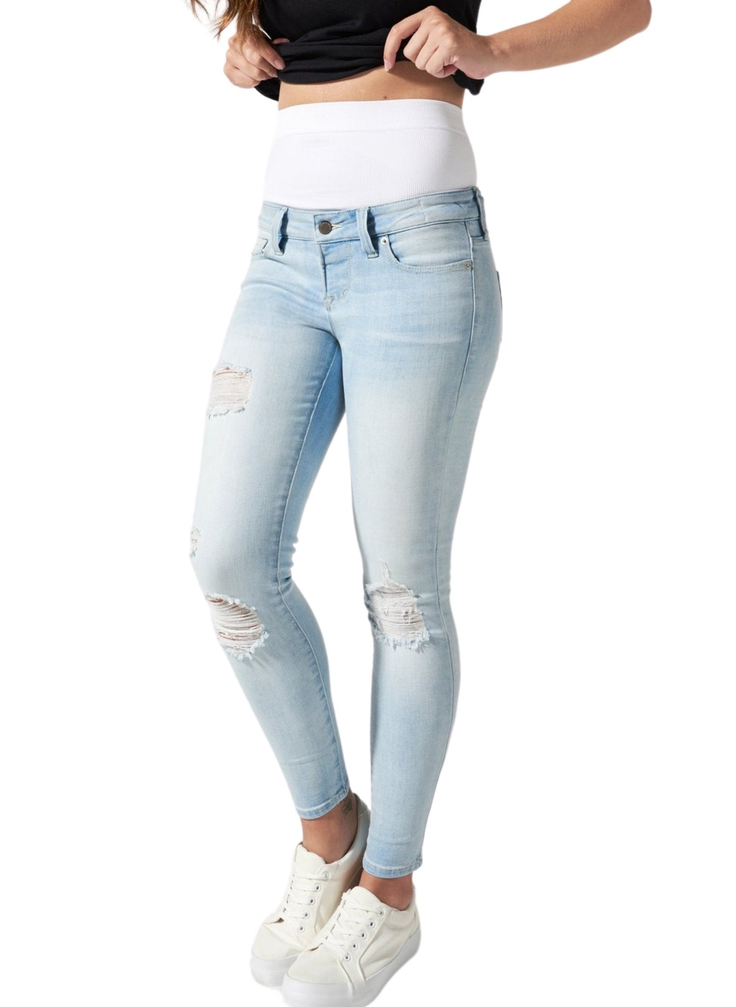 BLANQI Postpartum Support Skinny Jeans - Light Wash - Mums and Bumps
