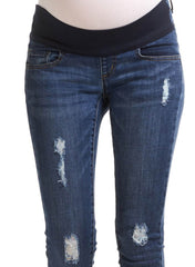 Blaze Maternity Jeans - Mid Blue - Mums and Bumps