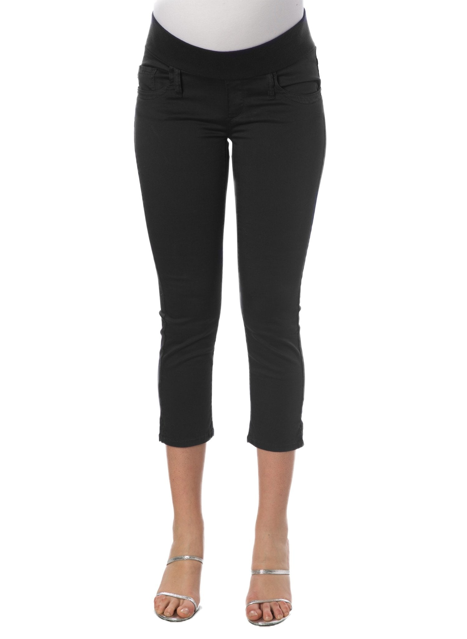 Capri Cotton Maternity Pants - Black - Mums and Bumps
