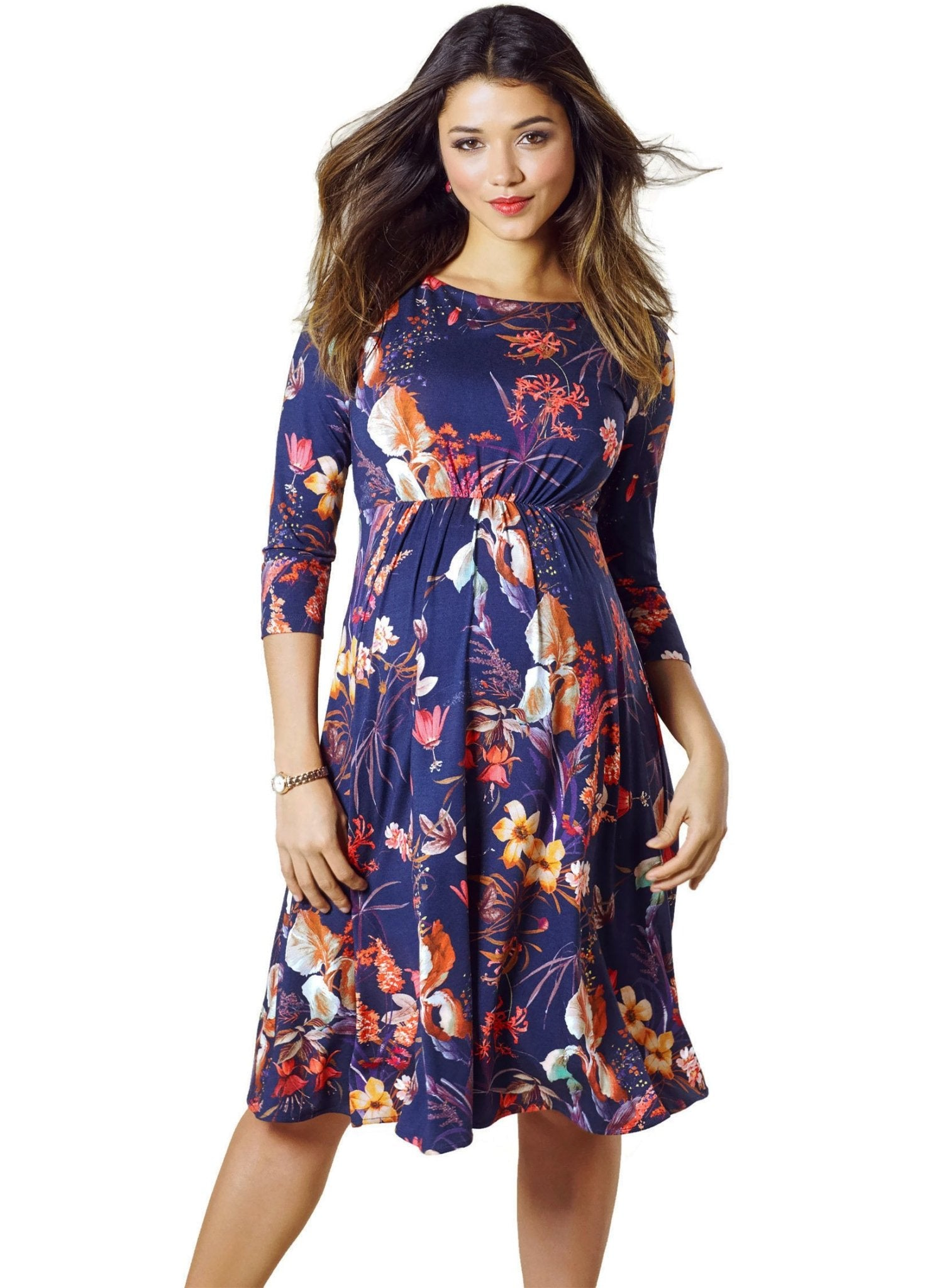 Cathy Maternity Dress - Oriental Bloom - Mums and Bumps