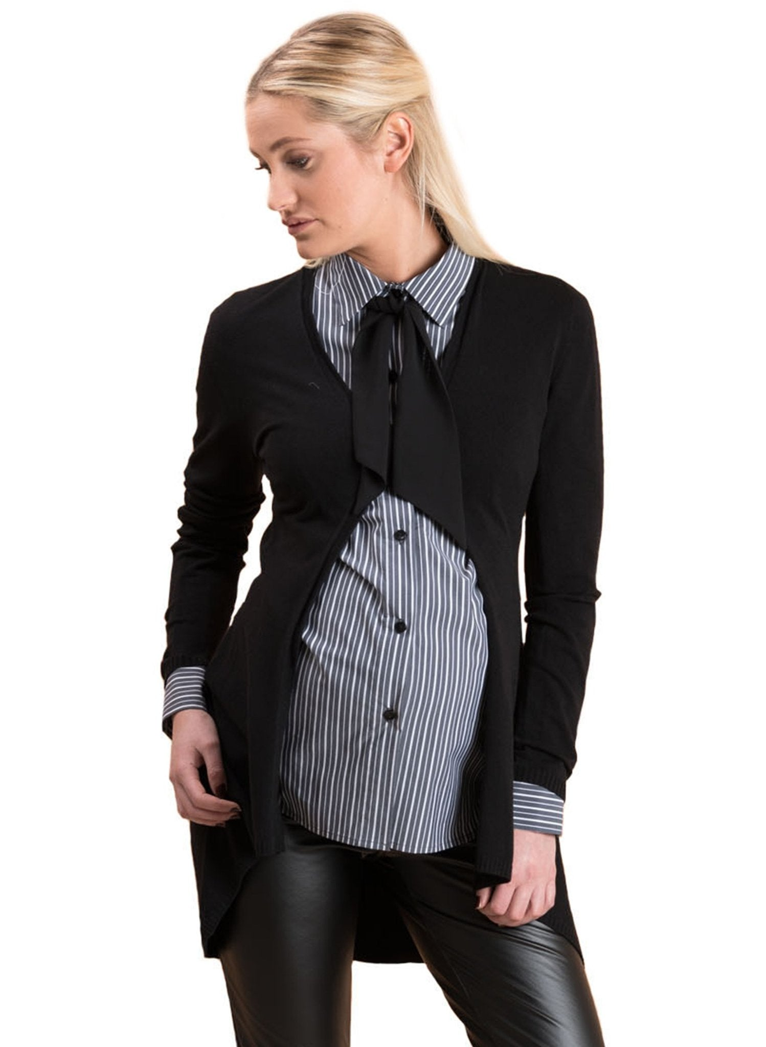 Classico Maternity Cardigan - Black - Mums and Bumps