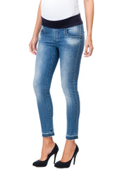 Cool Girl Skinny Cropped Maternity Jeans - Mums and Bumps