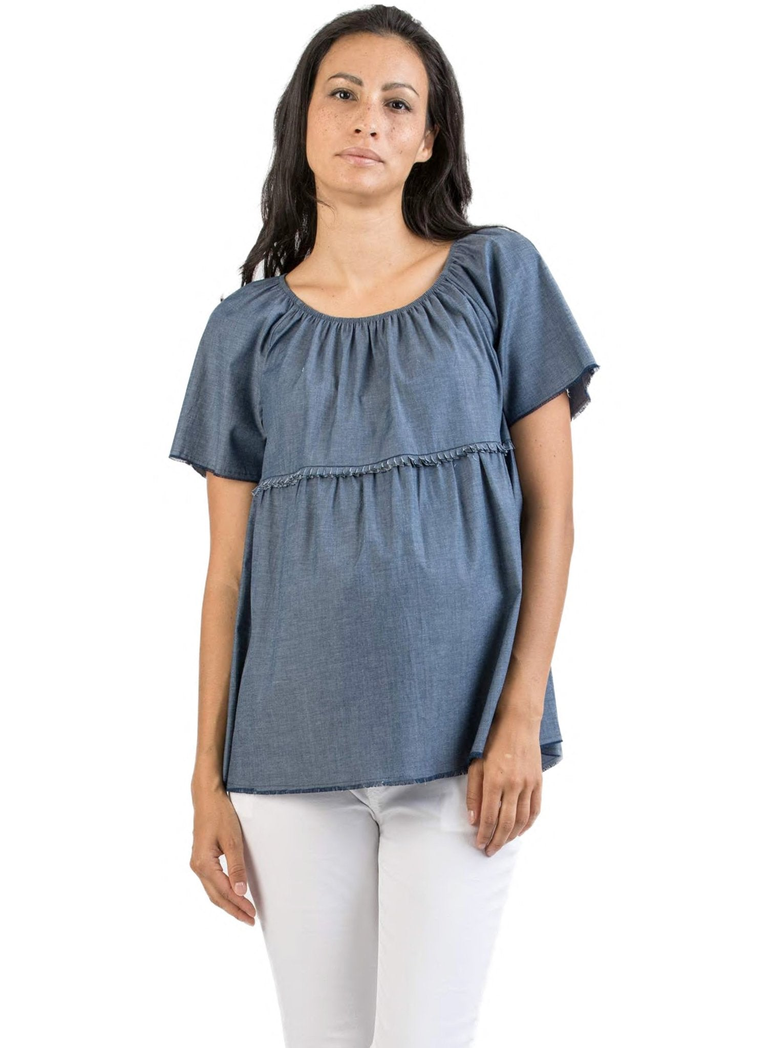 Denim Maternity Top - Mums and Bumps