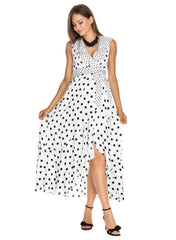 Dorothea Maternity Maxi Dress - Polka Dot - Mums and Bumps