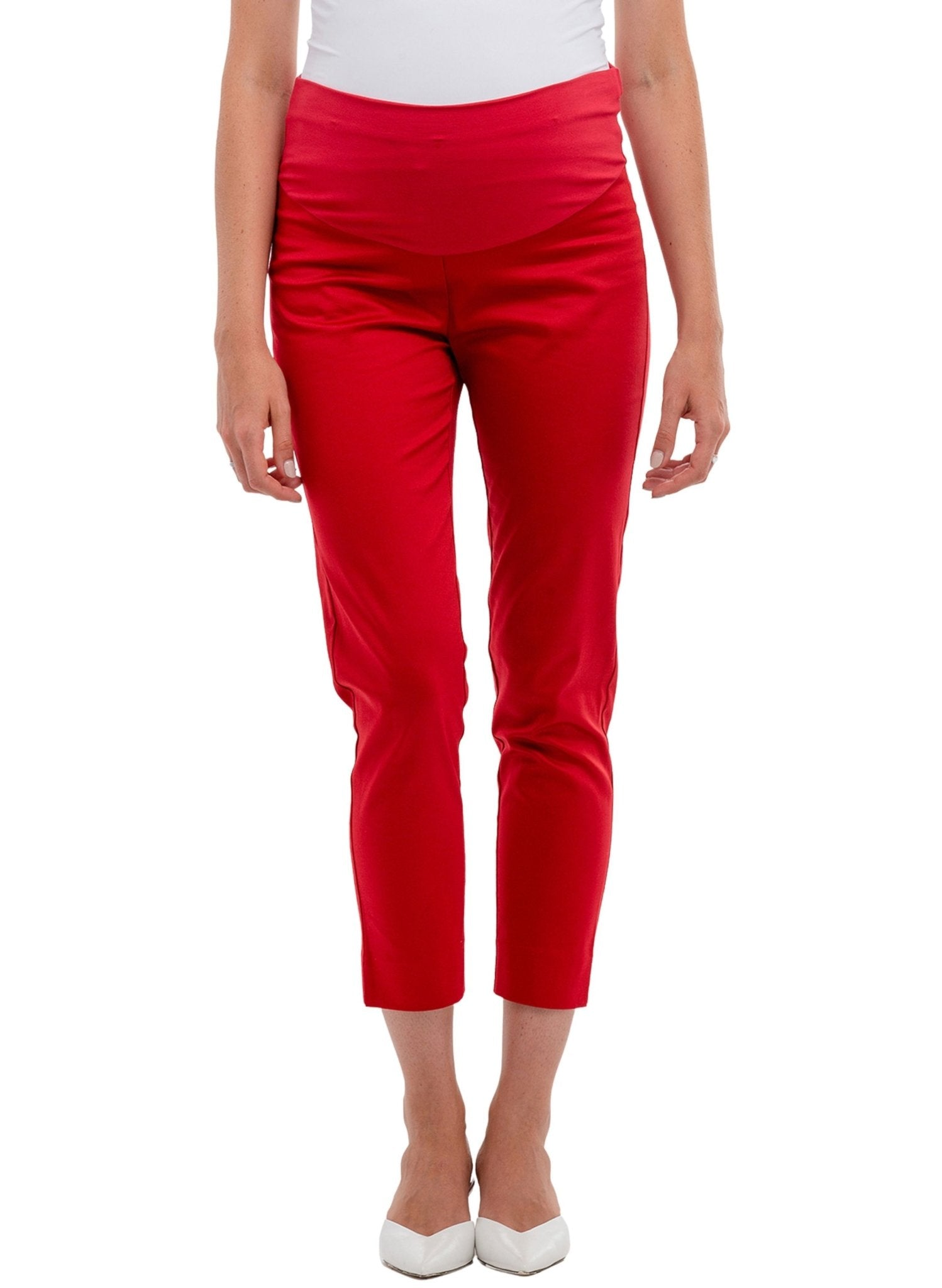 Dylan Maternity Pants - Red - Mums and Bumps