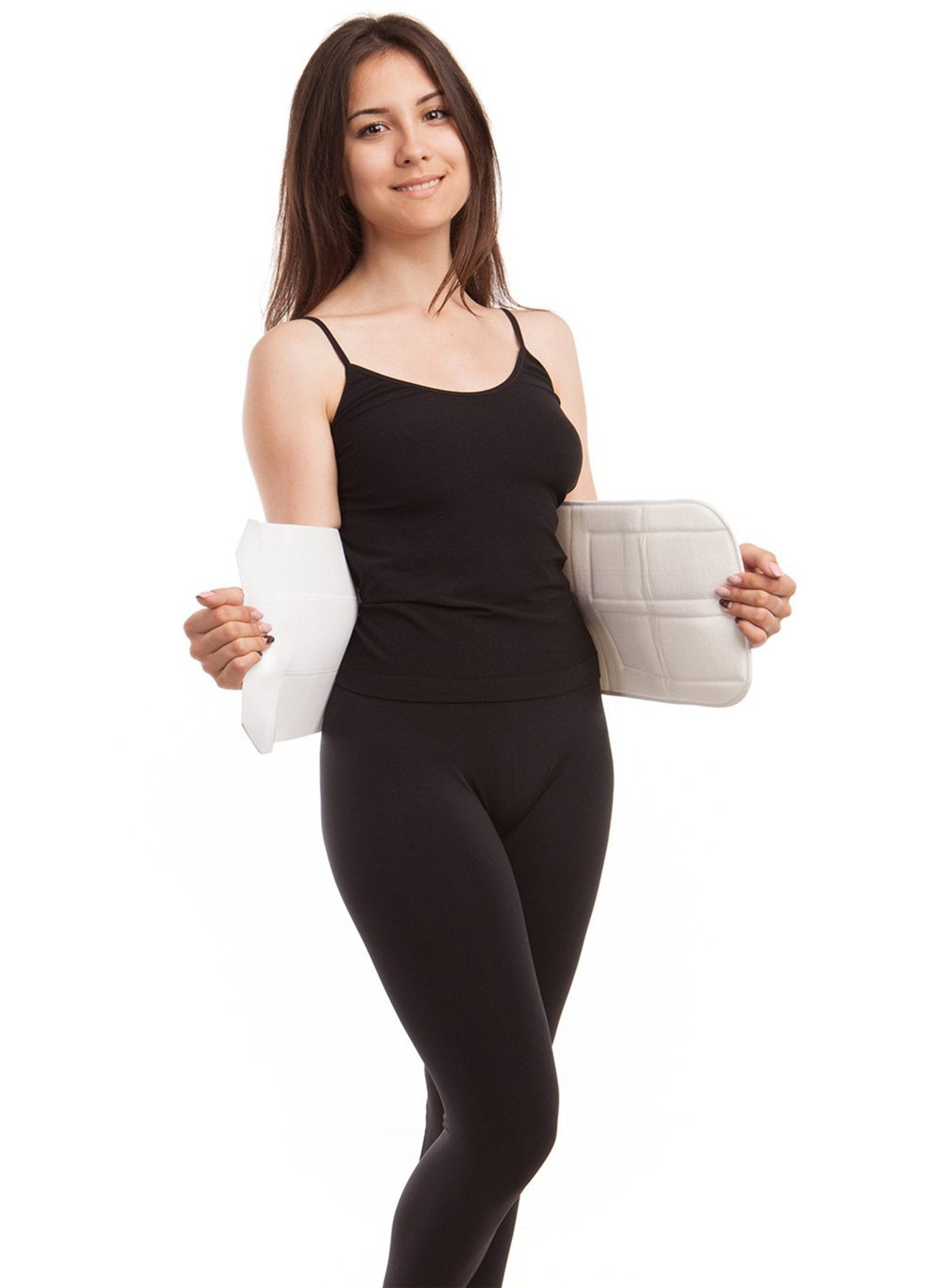 Elastic Abdominal Support Binder - White - Mums and Bumps