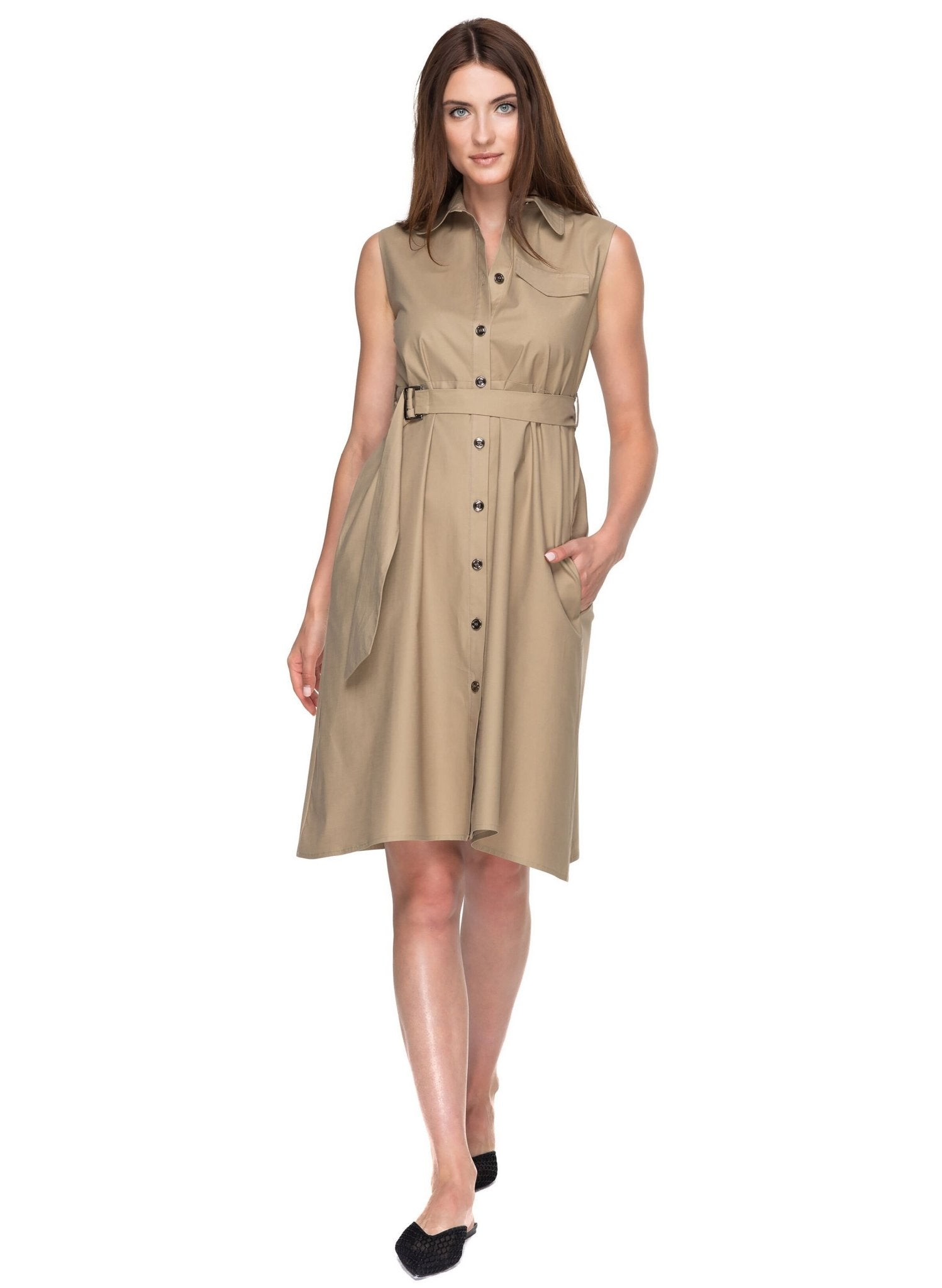 Elettra Maternity Dress - Cappuccino - Mums and Bumps