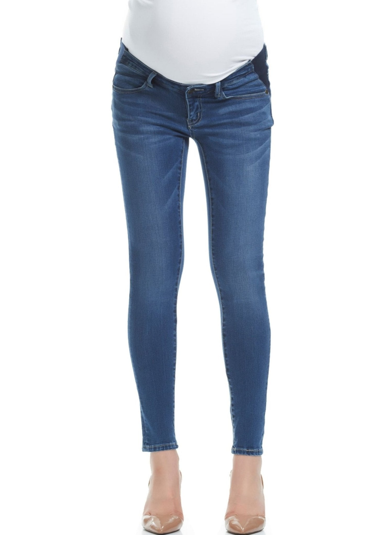 Esme Skinny Crop Maternity ِJeans - Mums and Bumps