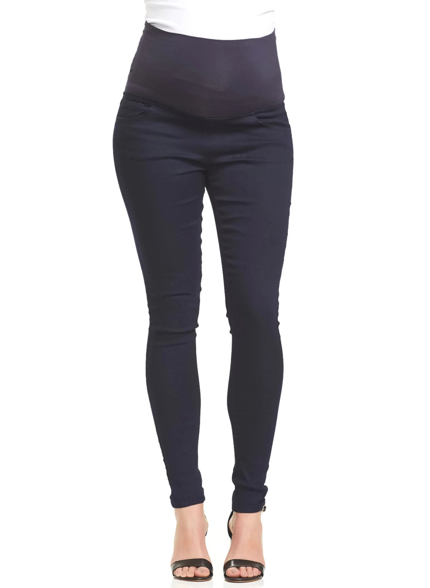 Essential Overbelly Maternity Denim - Navy - Mums and Bumps