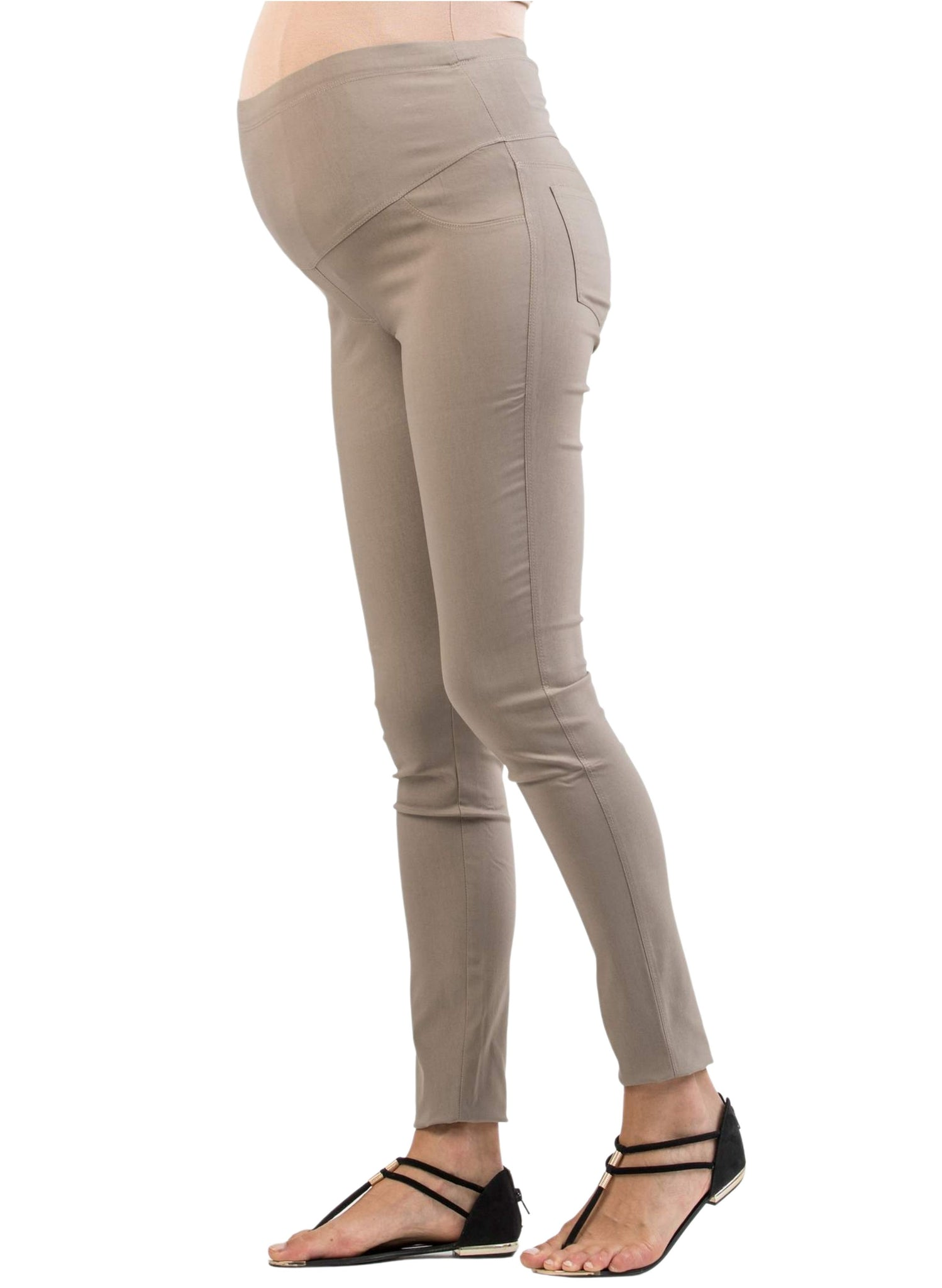 Super Comfortable Skinny Maternity Trousers - Beige