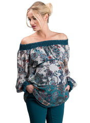 Floral Print Maternity Tunic - Mums and Bumps