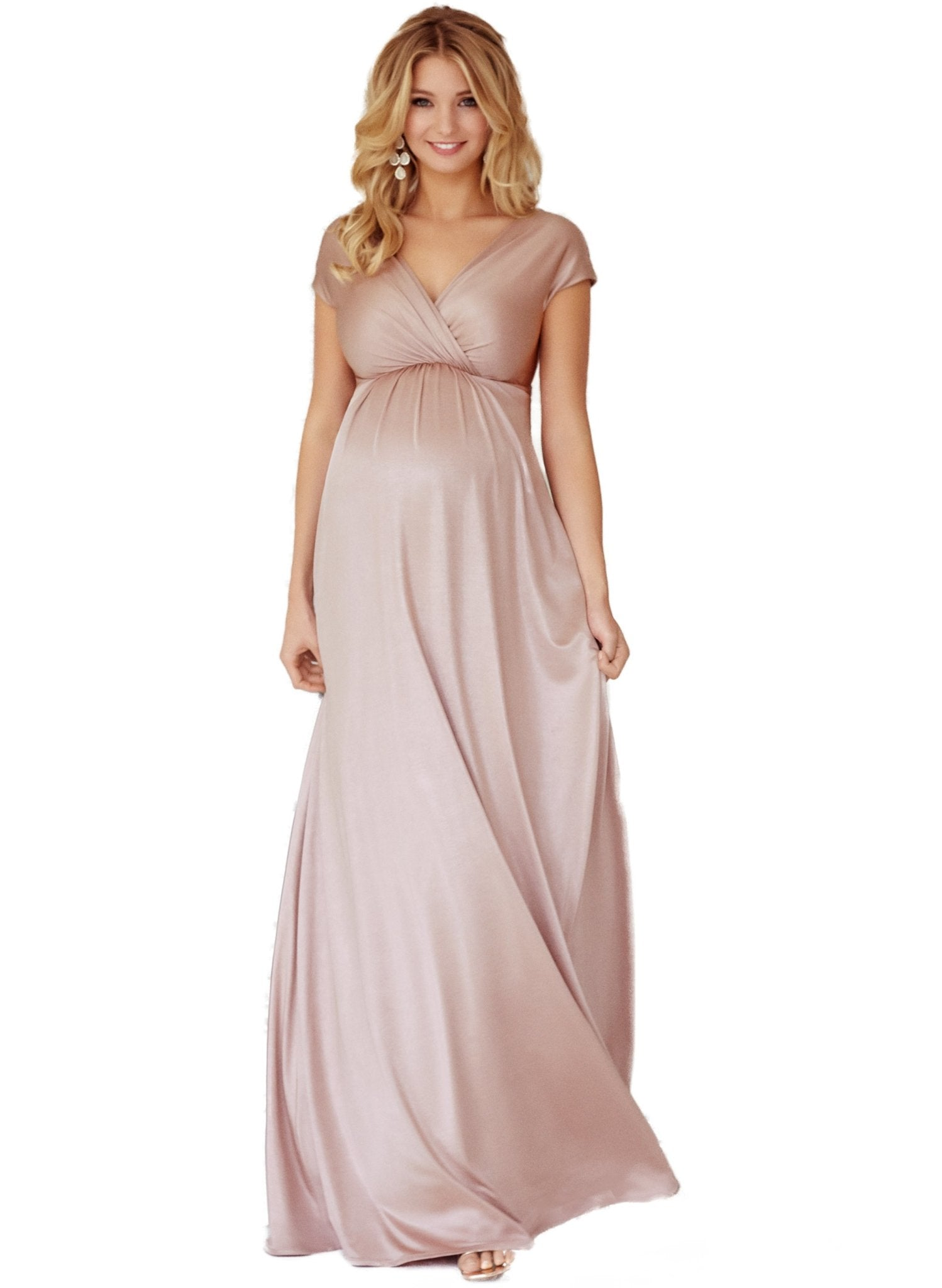 Francesca Maternity Maxi Dress - Blush - Mums and Bumps