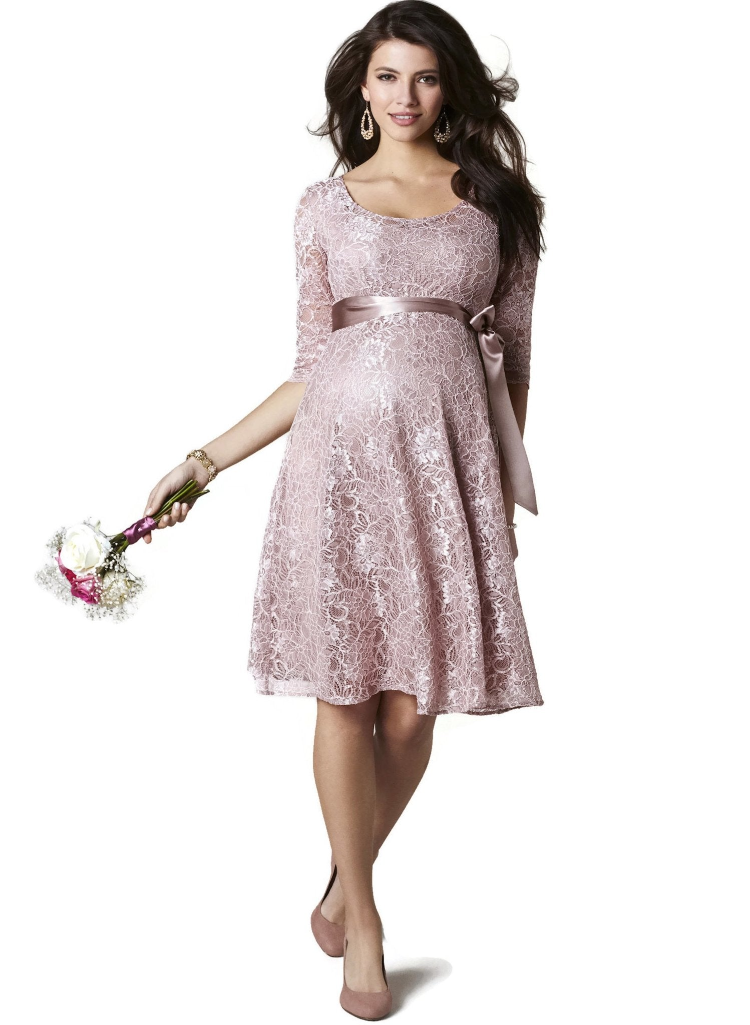 Freya Maternity Dress - Orchid Blush - Mums and Bumps