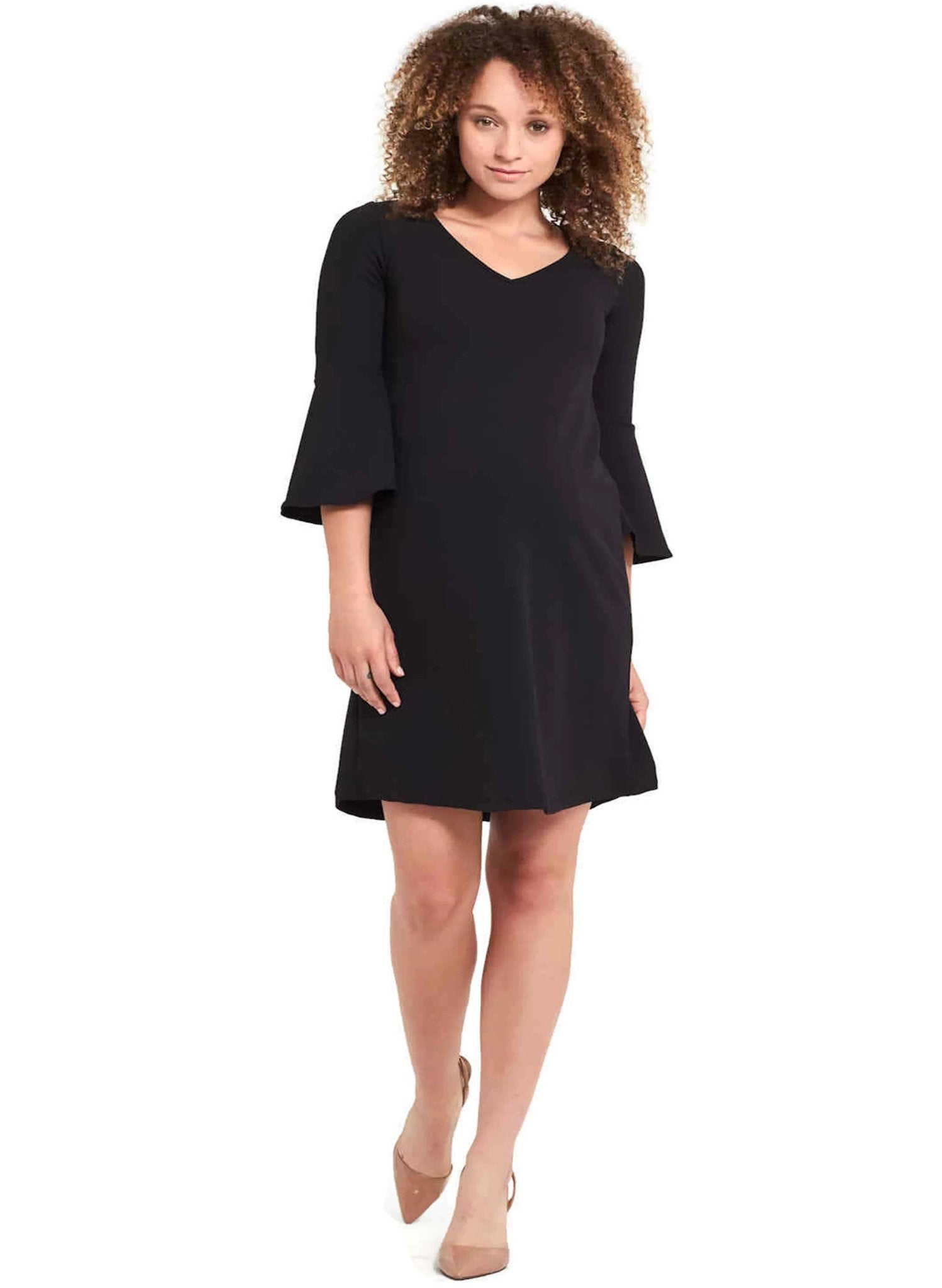 Harper Maternity Dress - Black - Mums and Bumps