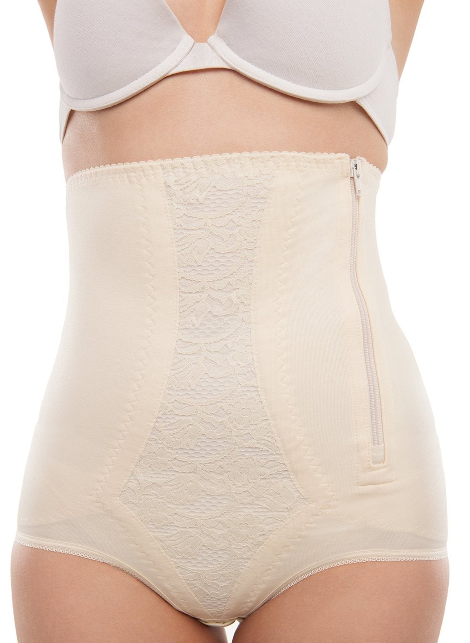 High Waist Abdominal Support Girdle - Cream - Mums and Bumps