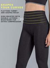 High-Waisted Moderate Compression Capri - ActiveLife - Mums and Bumps