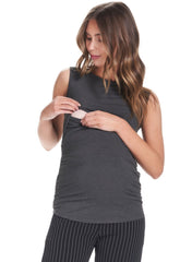Honor Maternity & Nursing Tank - Charcoal - Mums and Bumps