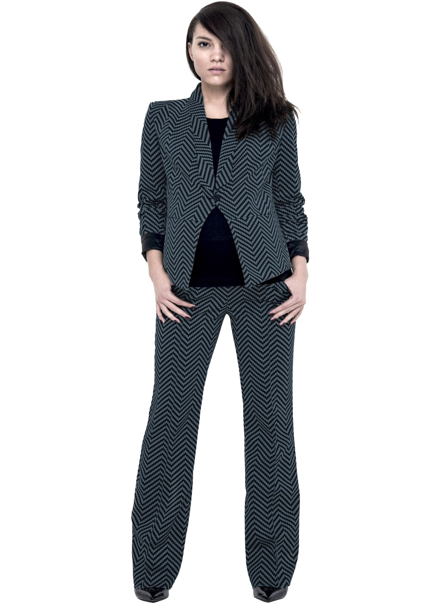Maternity 2-Piece Suit - Green Check - Mums and Bumps