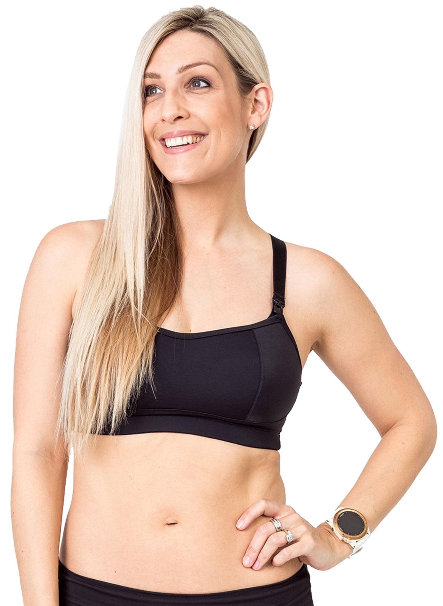 Maternity Activewear Bra - Fit2feed Black - Mums and Bumps