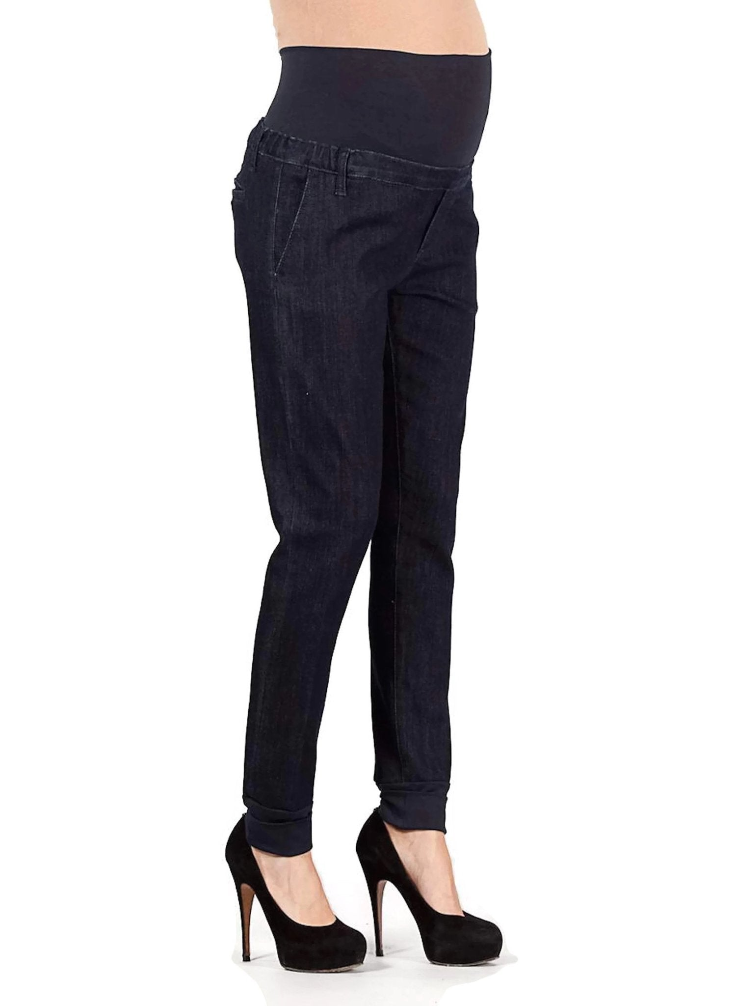 Maternity Chino Jeans with Ankle Cuffs - Mums and Bumps
