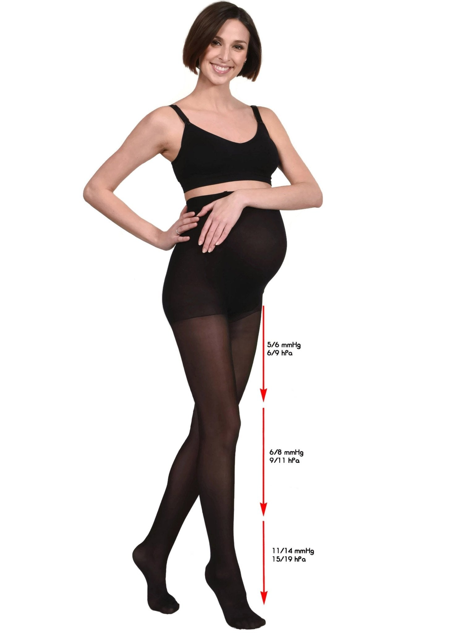 Maternity Compression Support Tights - Black - Mums and Bumps