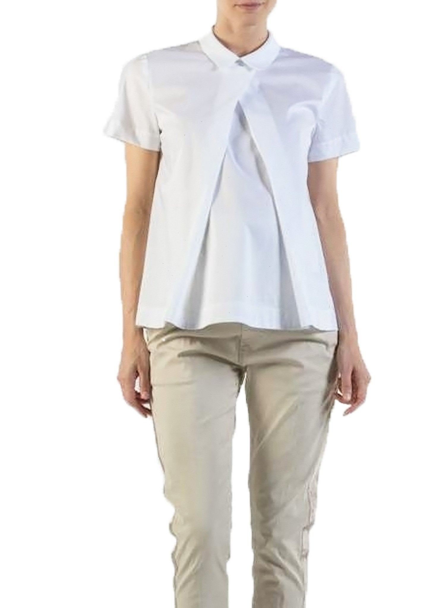 Maternity Cotton Collar Shirt - Mums and Bumps