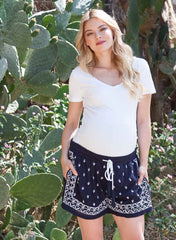 Maternity Embroidered Shorts - Mums and Bumps