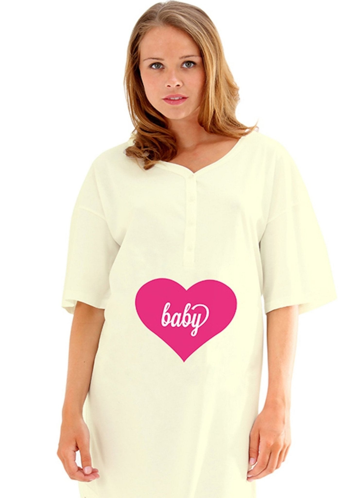 Maternity Night Shirt - Yellow - Mums and Bumps