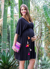 Maternity & Nursing Dress with Tassels - Mums and Bumps