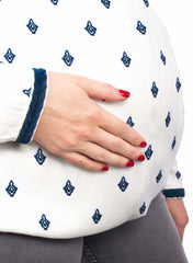 Maternity & Nursing Embroidered Blouse - Mosaic Maze - Mums and Bumps