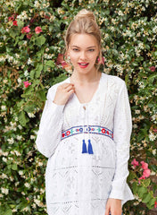 Maternity & Nursing Embroidered Blouse - Paradise - Mums and Bumps