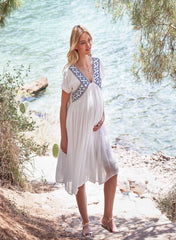 Maternity & Nursing Embroidered Dress - Memories Made - Mums and Bumps