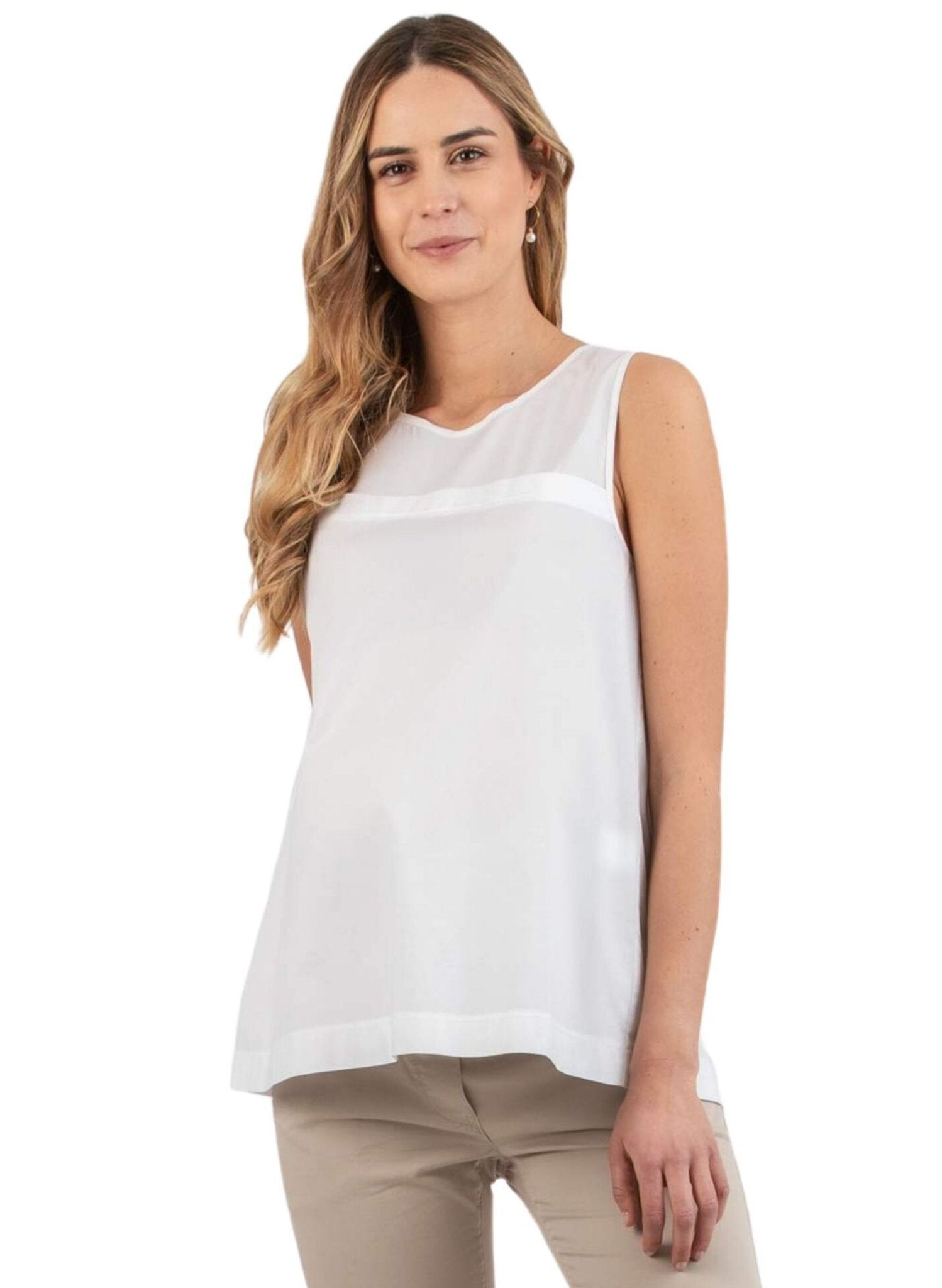 Maternity Top with Creases on the Back - Off White - Mums and Bumps