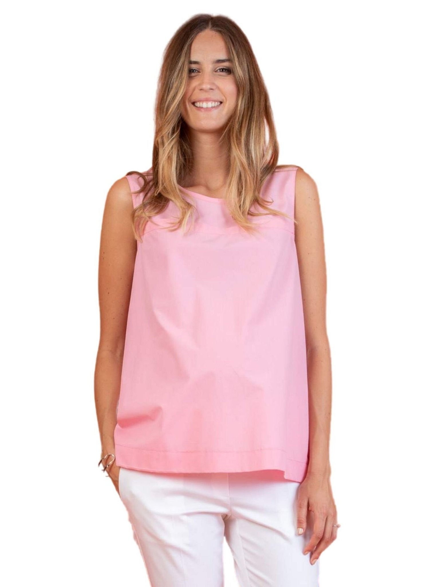 Maternity Top with Creases on the Back - Pink - Mums and Bumps