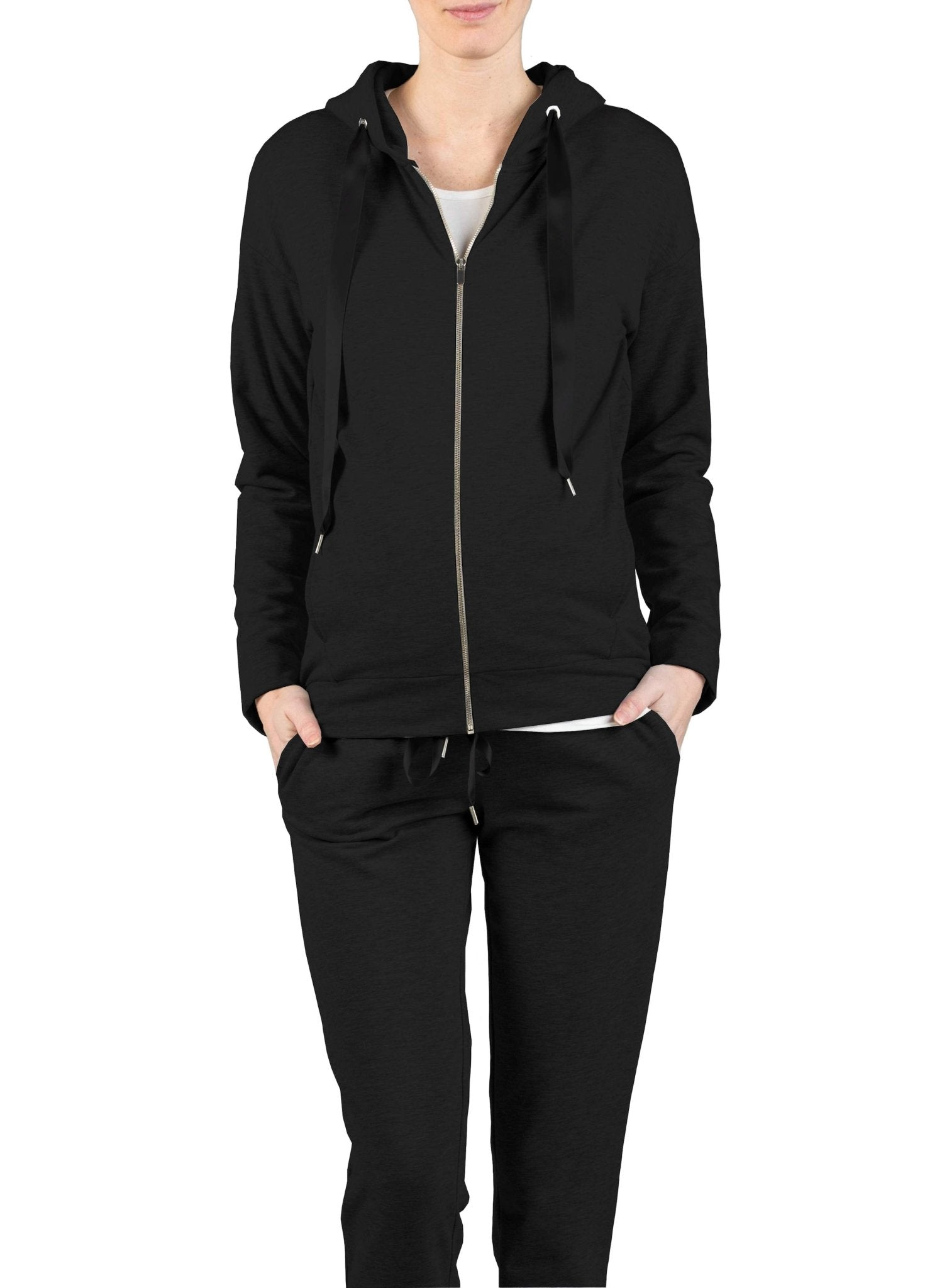 Maternity Tracksuit (2 Piece Set) - Black - Mums and Bumps