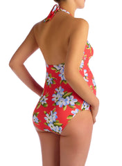 Maui Hibiscus Printed Maternity Swimsuit - Mums and Bumps