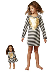 Mini & Me Set - Golden Heart Tunic  - Mums and Bumps