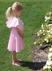 Mini & Me Set - Pink Maya Twirl Dress - Mums and Bumps