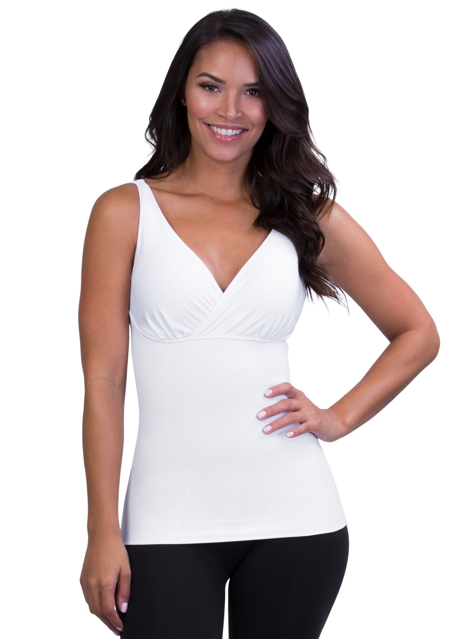 Mother Tucker Nursing Tank - White - Mums and Bumps