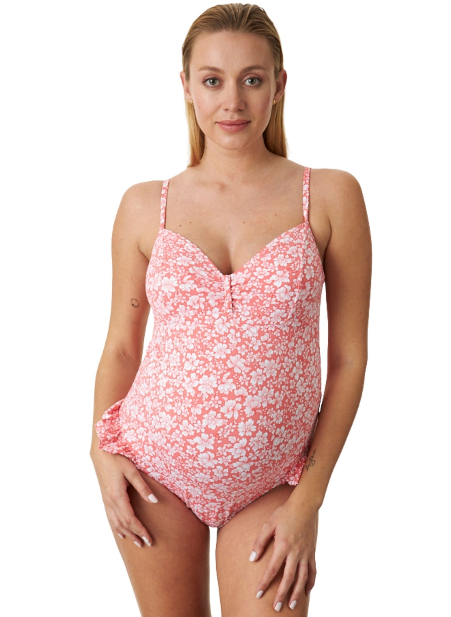 Mykonos Floral One Piece Maternity Swimsuit - Mums and Bumps