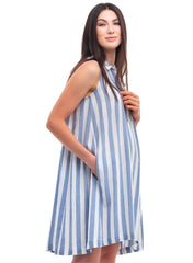 Narciso Maternity Dress - Sky White - Mums and Bumps