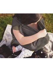 Nursing 360° Scarf/Cover - Milky Stripes - Mums and Bumps