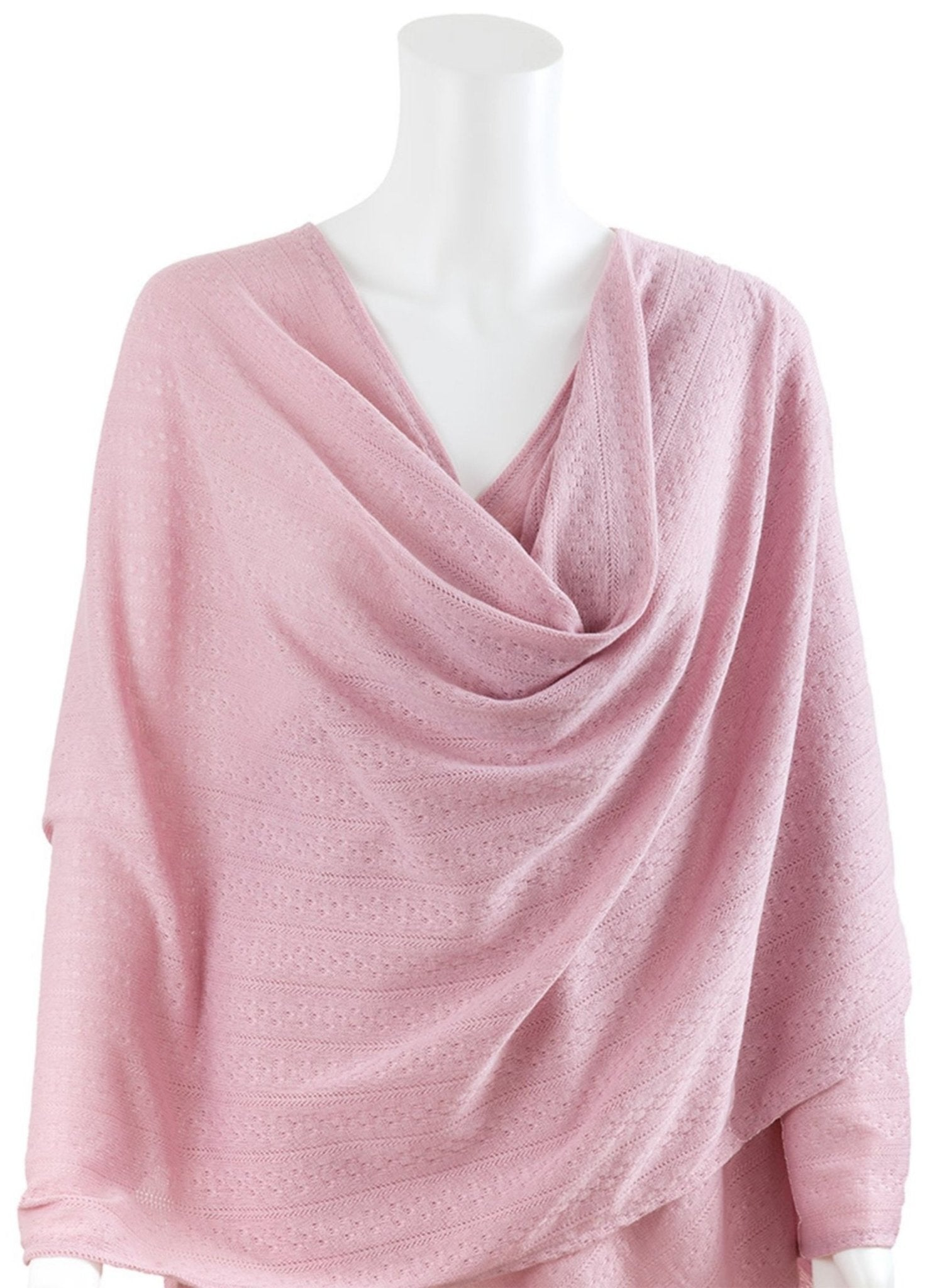 Nursing Cover Textured Knit fabric – Pink - Mums and Bumps